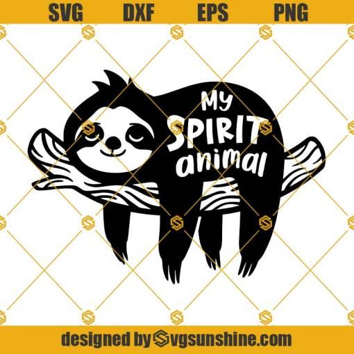 Sleeping Sloth SVG, Sloth SVG, My Spirit Animal SVG