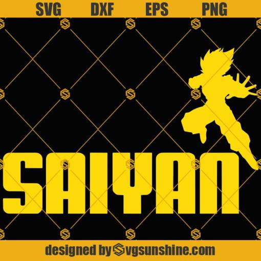 Dragon Ball Z Goku Super Saiyan SVG PNG DXF EPS Cut Files Vector Clipart Cricut Silhouette
