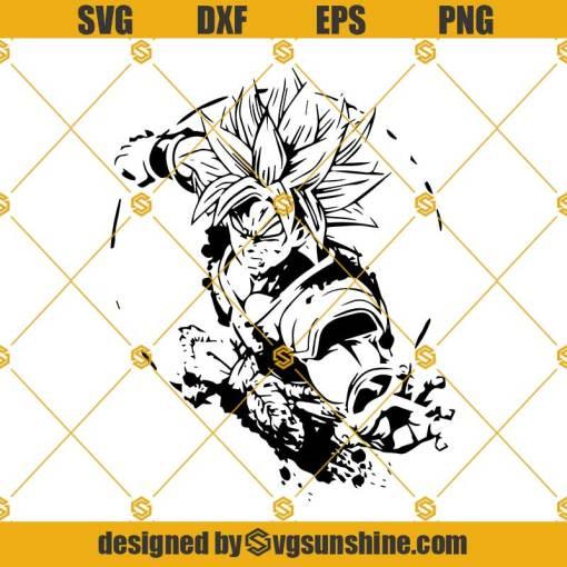Broly SVG Super Saiyan SVG Dragon Ball Z SVG Broly Vector Cut Files For Cricut Silhouette Cameo