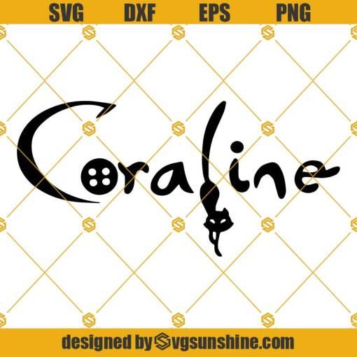 Coraline Logo Cat SVG, Coraline Logo SVG, Coraline SVG