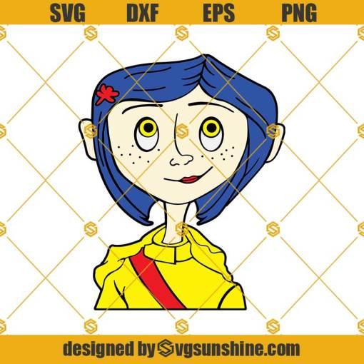 Coraline SVG, Coraline Face SVG, Coraline PNG, Coraline Vector Clipart