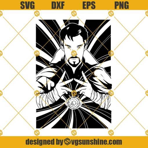 Dr Strange SVG, Doctor Strange SVG, Dr. Strange cutfile, Avengers SVG, Marvel SVG, Doctor Strange stencil cutting file, cricut, silhouette