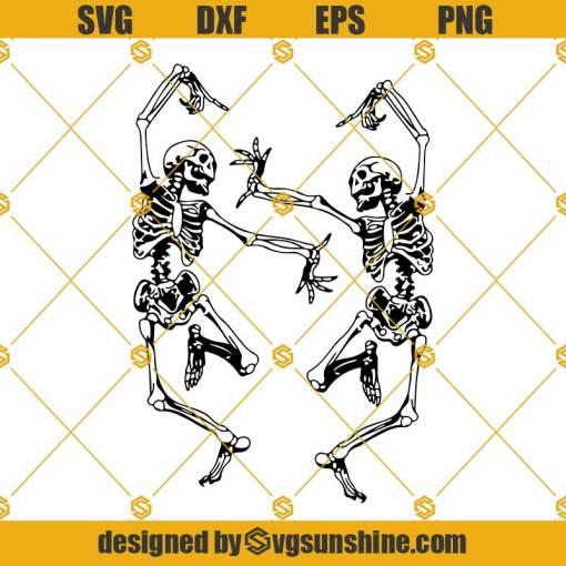 Dancing skeletons SVG, Skeleton funny dance SVG, Skeleton SVG, Halloween SVG Cricut Silhouette cameo