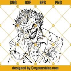 Joker SVG, Joker silhouette, Clown svg, Villain svg, svg file for cricut, Silhouette svg, Joker cricut, Joker cut file, Joker vector