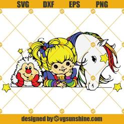 Rainbow Brite SVG, Childhood Memories SVG, 80s Cartoon SVG PNG DXF EPS Cut Files For Cricut Silhouette Cameo