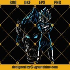 Vegeta Svg, Super Saiyan Svg, Dragon Ball Z Svg, Vegeta SVG PNG DXF EPS Cut Files For Cricut Silhouette Cameo