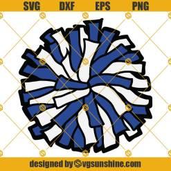 Blue White Pom Pom SVG