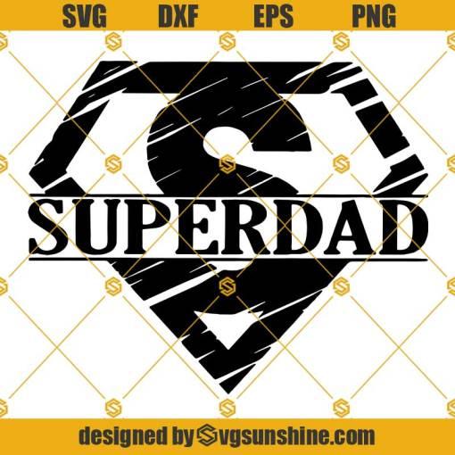 Super Dad SVG, Superman Logo SVG, Superhero SVG, Happy Father's Day SVG, Dad SVG