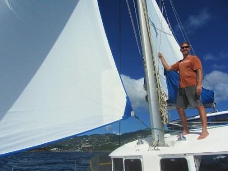Sailing the boat