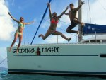 Jumping off the boat
