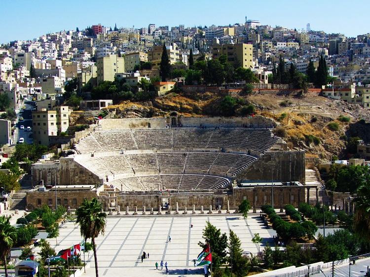 Roman Theater in the middle of Amman, Jordan