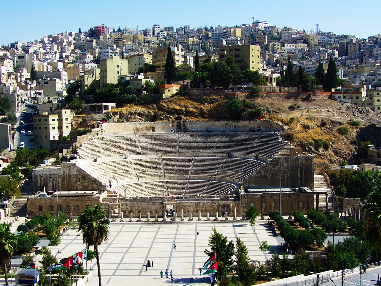 Roman Theater in the middle of Amman, Jordan
