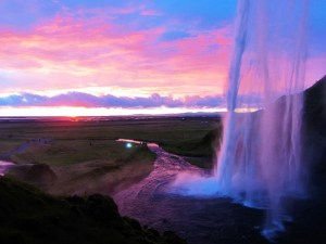 Iceland - Seljalandsfoss At Sunset