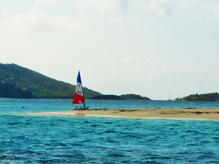 Sailboat on a beach