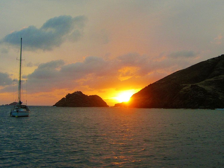 Sunset at Ile Fourche in St Barts