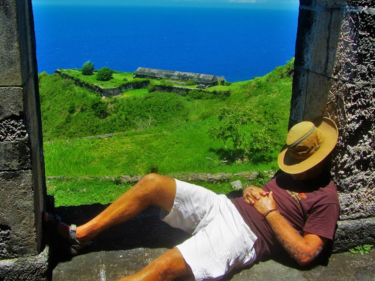 Napping At Brimstone hill on St Kitts