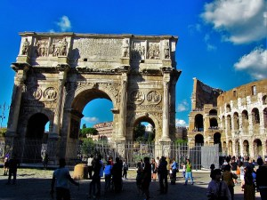Italy - Ancient Rome - Arch of Constantine