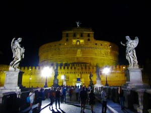 Exploring Rome - Castel St. Angelo - Nighttime