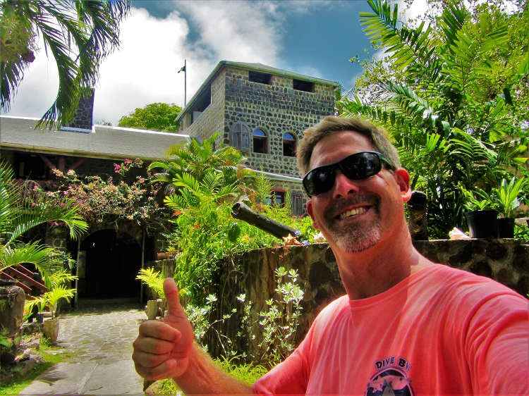 Me at the old fort on Bequia