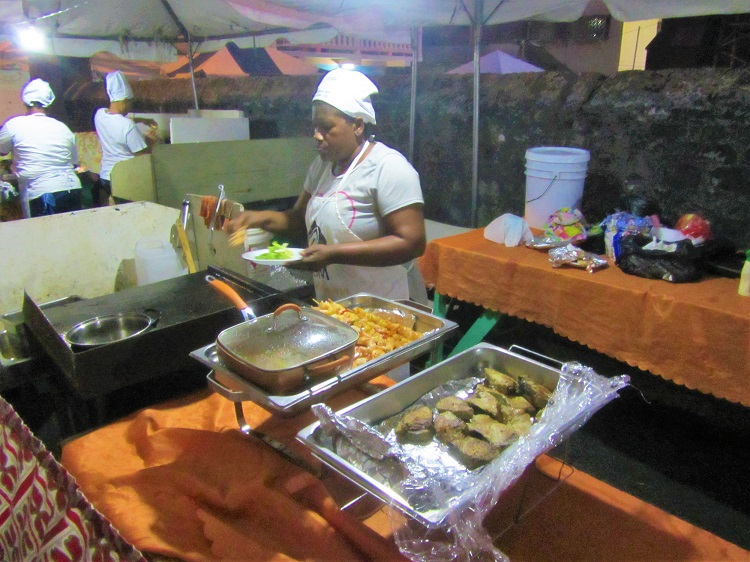 Gouyave Fish fry vendor