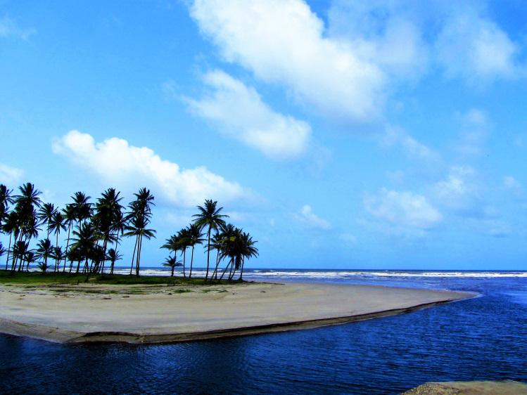 East coast beach on Trindad
