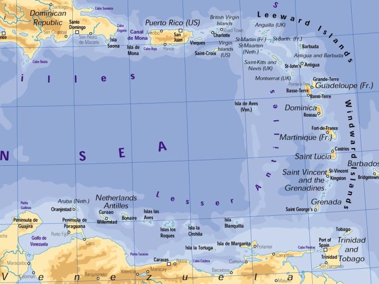 Map - Caribbean