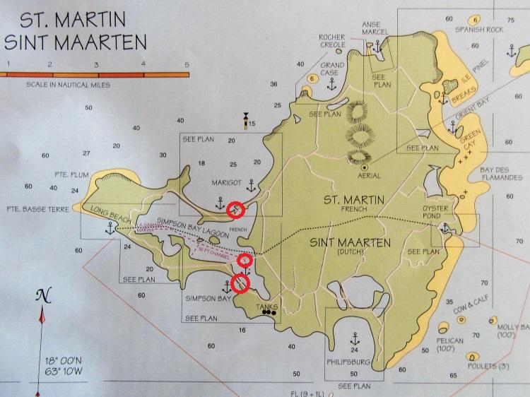 St Martin Map