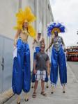 Man do I feel short around these stilt walkers