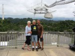 Arecibo Observatory with mom and dad