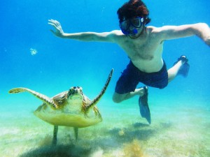 Michael With A Turtle