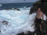 Rough seas at ateh jacuzzi