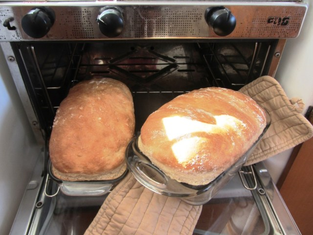 Fresh bread just out of the oven