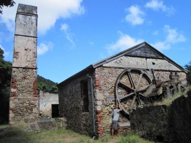 USVI - St John - Reef Bay Ruins - Wheel