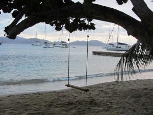 Swing at Cooper Island
