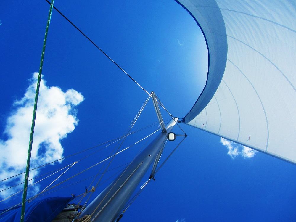 Sailing Under The Jib
