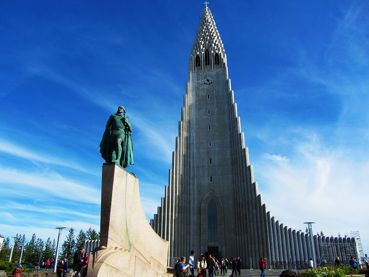 Iceland - 1 Reykjavik - Hallgrimskirkja With Leif Ericsson