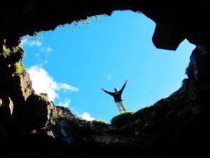 Iceland - 9 Raufarholshellir - Looking At Me Through Hole