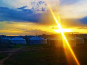 mongolia-4-ger-camp-sunset