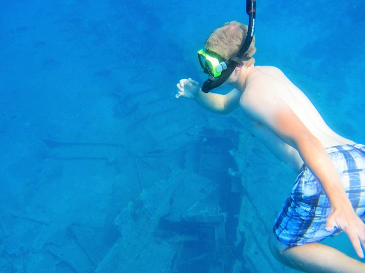 Snorkeling a shipwreck