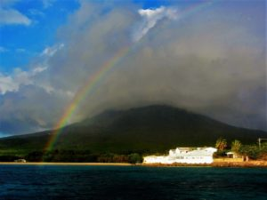 Is that rain coming at Nevis