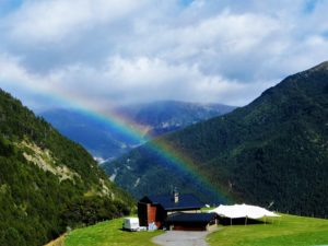 A rainbow on my way over the mountain