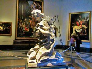 Angel statue in the Pinacoteca