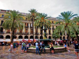 Spain - Barcelona - La Rambla - Plaça Reial