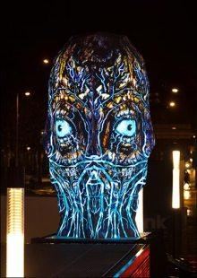 Sviatovid est la dernière sculpture projetée à 360 degrés du studio BARTKRESA.