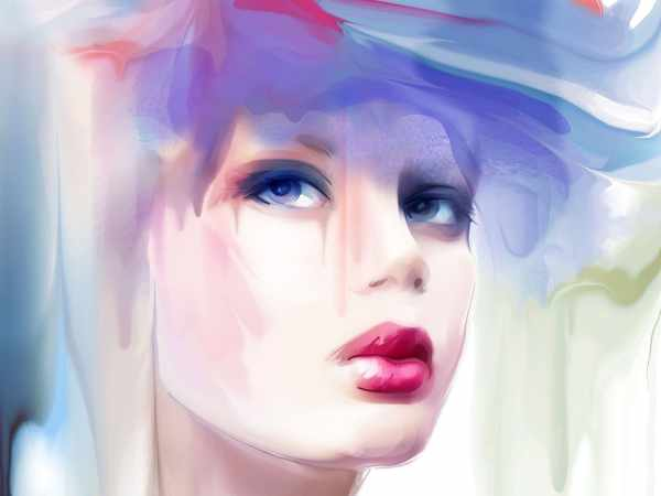 Картинки нарисованных девушек