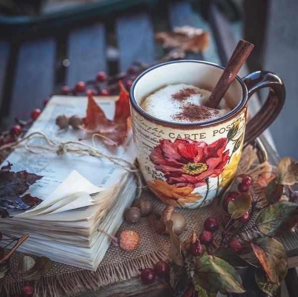 красивое фото осени и кофе – 06