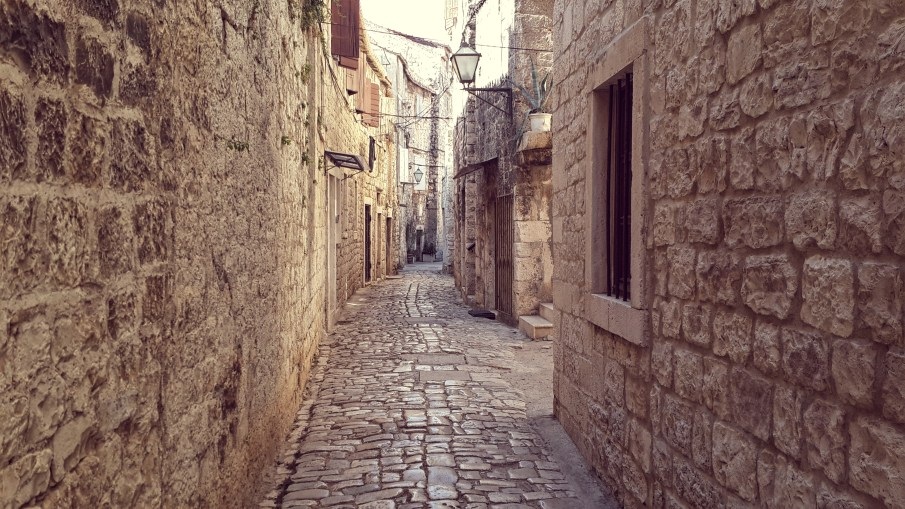 old streets of trogir