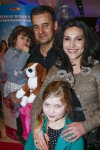 Lili en Wilfred Genee met hun kinderen Luca en Isabeau © BrunoPress