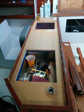Long shot of the galley, Planning on covering with Stainless sheet metal