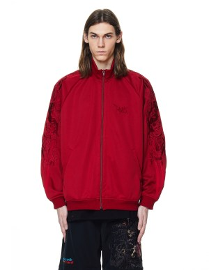 Doublet Red Embroidered Track Jacket